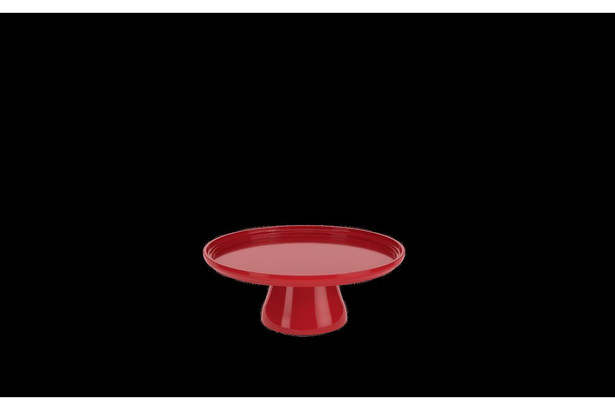 BOLEIRA CAKE Ø19,5CM 19,5 X 19,5 X 7,2 Cm Vermelho Bold Coza