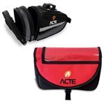 Kit Bolsa ACTE A26 para Guidão de Bicicleta + Bolsa para Selim de Bicicleta ACTE A24