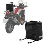 Bolsa Alforje Traseiro Moto Expansível 30 Litros Universal em Nylon 600 Preto