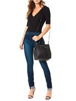 Bolsa Calvin Klein Jeans City Drawstring Tiracolo Preto - U