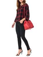 Bolsa Calvin Klein Jeans City Drawstring Tiracolo Vermelho - U
