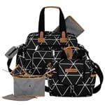 Bolsa Everyday + Frasqueira Térmica Emy + Frasqueira Organizadora Manhattan Preto - Masterbag