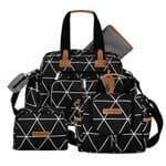 Bolsa Everyday + Frasqueira Térmica Emy + Necessaire Manhattan Preto - Masterbag