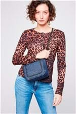 Bolsa Jeans com Correntes - Tam: UC / Cor: BLUE