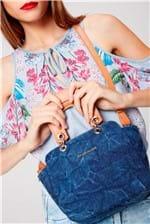 Bolsa Jeans Transversal Feminina - Tam: UC / Cor: AZUL/CARAMELO