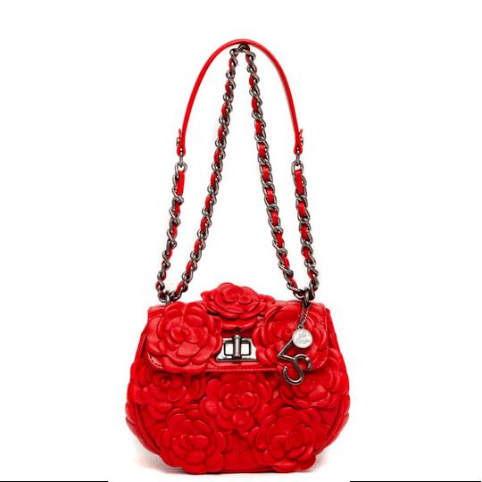 Bolsa La Spezia Mini Júlia Flores Vermelho