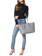 Bolsa Large Calvin Klein Tote Cinza Médio - U