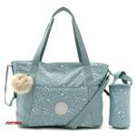 Bolsa Maternidade Camama Kipling Basic Plus EWO K2711952G Silver Sky Azul Acinzentado com Trocador Porta Mamadeira Removível e Porta Chupeta