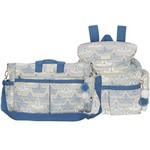 Bolsa Maternidade M + Mochila Barquinho Azul