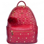 Bolsa Mochila Disney Mickey Head Pin com Pompom