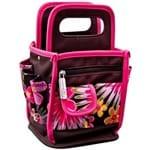 Bolsa Organizadora Pequena Floral Rosa Floral Bol007 - Toke e Crie