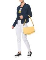 Bolsa Pocket Bag Couro Grande - Amarelo Ouro - U