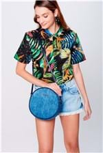 Bolsa Redonda em Jeans - Tam: UC / Cor: AZUL