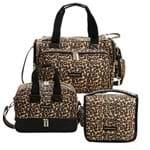 Bolsa Térmica Anne + Bolsa Térmica Vicky + Necessaire Viagem Animal Print - Masterbag
