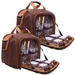 Bolsa Térmica Guepardo com Kit Picnic 17l (2 Kits de Picnic)