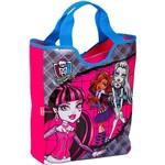Bolsa Tote Monster High Xadrez e Rosa - Sestini