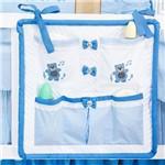 Bolsão Porta Objeto 100 Algodão para Quarto de Bebê Little Bears Batistela