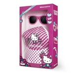 Boné + Óculos Hello Kitty Multikids Rosa