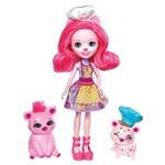 Boneca Articulada - 15 Cm - Enchantimals - Hora de Cozinhar - Petya Pig Streusel e Nisha - Mattel
