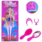 Boneca Bailarina Ballet Of Dreams com Botao de Movimento e Acessorios