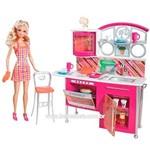 Boneca Barbie com Comodos da Casa - Piscina e Churrasco