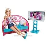Boneca Barbie com Comodos da Casa - Sofá