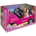 Boneca Barbie e Boneco Ken com Automóvel - Veículo de Praia Carro da Barbie CJD12 - Mattel