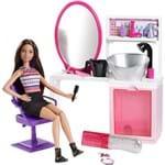 Boneca Barbie Fashion Salão Estilo e Brilho Brunette DTK04/DMM65 - Mattel