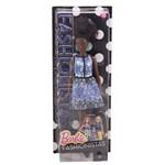 Boneca Barbie Fashionistas Blue Brocade - Mattel