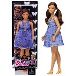 Boneca Barbie Fashionistas Morena Negra Plus Size Beautiful Butterflies Curvy Doll Número 66 - Mattel