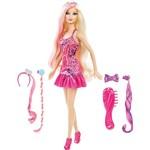Boneca Barbie Glam Hair Acessório Cabelo Mattel
