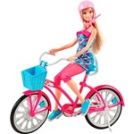 Boneca Barbie Real Bicicleta Mattel