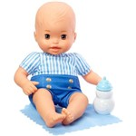 Boneca Bebê - Little Mommy - Recém Nascido - Roupinha Listrada Azul - Mattel
