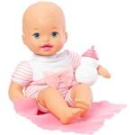 Boneca Bebê - Little Mommy - Recém Nascido - Roupinha Listrada Rosa - Mattel