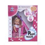 Boneca Bebê Passinhos com Carrinho - Estrela