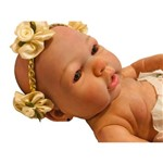 Boneca Bebê Reborn Autentica Mey com Corpo Inteiro