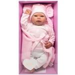 Boneca Bebê Reborn Olhos Abertos Rosa Baby Brink