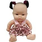 Boneca Cotiplás Coleção Bebê Mini Pedacinho - Macacão Rosa/marrom