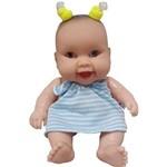 Boneca Cotiplás Coleção Bebê Mini Pedacinho - Vestido Azul/branco