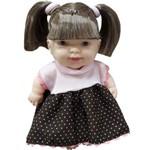 Boneca Cotiplás Dolls Collection - Cabelo Castanho - Vestido Rosa/marrom