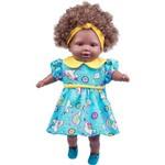 Boneca Cotiplás Tayla - Cabelo Castanho - Vestido Azul