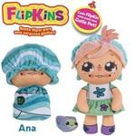 Boneca de Pano Macia Flipkins 2 em 1 com Mini Pet Dtc - Modelo:1 - Ana