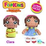 Boneca de Pano Macia Flipkins 2 em 1 com Mini Pet Dtc - Modelo:6 - Clara