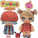 Boneca de Pano Macia Flipkins 2 em 1 com Mini Pet Dtc - Modelo:3 - Bia