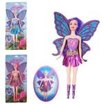 Boneca Fada Candy Fairy Bate as Asas Colors com Pente Som e Luz a Bateria na Cartela