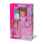 Boneca Mia Faz Xixi com Fraldinha e Mamadeira Bambola