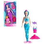 Boneca Sereia Selena Sortidas com Acessorios na Caixa