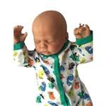 Boneco Bebê Reborn Peter Carequinha com Corpo de Pano