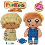Boneco de Pano Macio Flipkins 2 em 1 com Mini Pet Dtc - Modelo:4 - Lucas