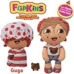 Boneco de Pano Macio Flipkins 2 em 1 com Mini Pet Dtc - Modelo:2 - Guga